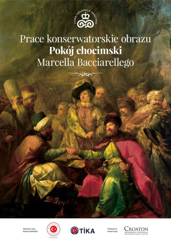 Prace konserwatorskie obrazu Pokój chocimski Marcella Bacciarellego
